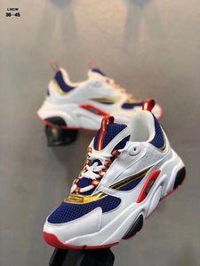 De alta calidad de la zapatilla de deporte de lujo Homme B22 deportes al aire libre de los hombres de malla transpirable Trainer \ Calzado casual 's estrenar las zapatillas de deporte del estilo EU40-45