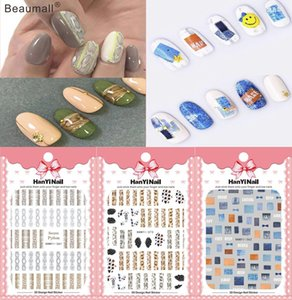 Beauty & Health Fashion Patterns Nails Art Manicure Back Glue Decal Decorations Design Nail Sticker For Nails Tips Beauty