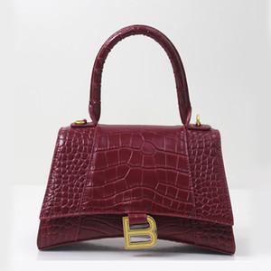 Fashion style di lusso a clessidra borse delle donne del sacchetto della borsa di spalla delle signore Alligator pelle di vacchetta spaccato qualità B marchio