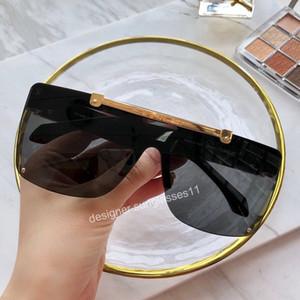2020 gafas de sol populares para mujer para hombre mitad del tirón de imagen Hasta fresca estupenda del marco Gafas de calidad superior del tablón UV Protección Sunglaess Orinigal Box