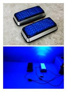 2pair 44led Blue 12v 24v led flashing strobe lights for ambulance pumper fire engines lamps Perimeter light 180X75x35mm