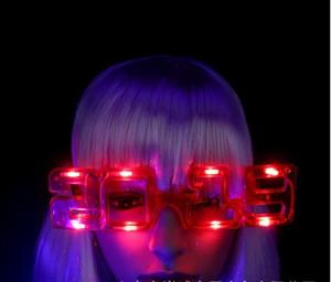 Номер 2019 светодиодные Флэш-очки Светящиеся очки Солнцезащитные очки Новый Год Рождество Хэллоуин аплодисменты свечение реквизит танцы фестиваль поставки