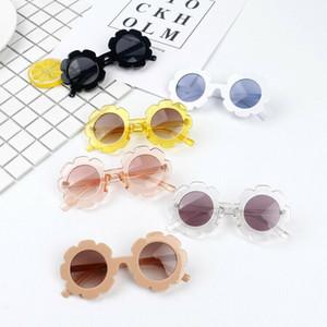 Emmababy moda linda del bebé de la muchacha de flor de los anteojos gafas de sol frescas del niño infantil de plástico blando UV400 gafas de sol