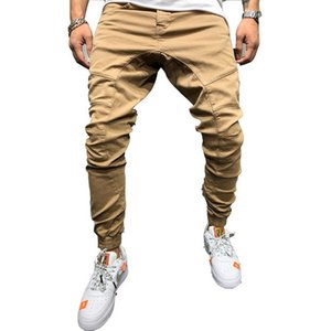 2019 Spring and Autumn Fashion Euro-American Hip-hop Side Zipper Pants Men's Shuttle Fabric Casual Pants gym