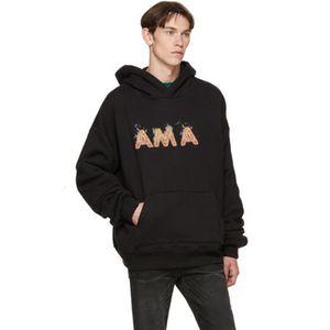 최고의 AM1R1 로고 화염 인쇄 후드 풀오버 스웨트 남성 여성 후드 스웨터 스트리트 후드 긴 소매 가을 겨울 착실히 보내다 HFYMWY302