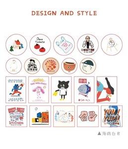 Álbum bonito 60pcs DIY Scrapbooking adesivos retro engraçada Projeto Jornal Fazendo Planner feliz Artesanato Decoração Stickers Outros decorativa