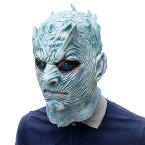 Newest Cosplay Game of Thrones Masks Night King Full Face Halloween Mask Latex Adult Scary Party Masks Cosplay Toy Props 10PCS DHL Free