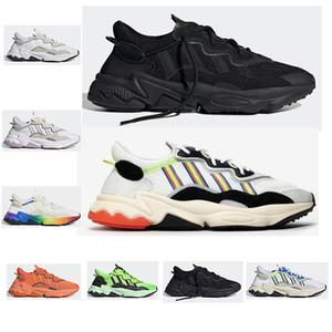 adidas 2019 Orjinal Ozweego erkek bayan Üst Kalite yansıtıcı Üçlü Siyah Atletik mens Spor Spor ayakkabılar eğitmenler boyutu 36-45 için Koşu ayakkabıları