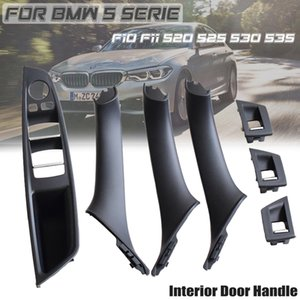 Red Brown LHD Car Interior Door Handle For BMW 5 serie F10 F11 520d 525d 530d 535i Inner Panel Pull Trim Cover 51417225854