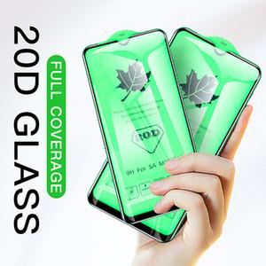 20D bord courbé verre trempé pour Samsung Galaxy J4 Plus J6 J2 Core A8 Plus A7 2018 A750 Protecteur d'écran Film de protection en verre