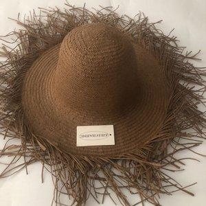 ZJBECHAHMU Casual nuova annata elegante di Sun della paglia dei cappelli solidi per le donne Summer Girl Caps vacanza all'aria aperta ombrellone spiaggia cappello pieghevole