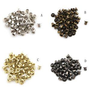 100pcs / lot 2.5MM Mini Craft main boucle en métal pour chaussures Décoration bricolage Patchwork couture Accessoires