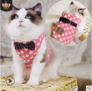 Мульти бантом мультфильм кошка жилет Four Seasons Walk Cat веревочные ошейники поводки Ковбой кошка нагрудные ремни зоотовары HA200