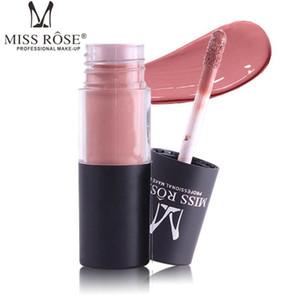 MISS ROSE rossetto opaco tubo cilindrico 12 colori lip gloss impermeabile Non decolorazione lucidalabbra 12 pz / lotto spedizione drop