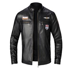 Vestes polaire Hommes Automne Hiver New Style Slim Veste en cuir Manteau de moto Mode 5 Taille Hombre Chaqueta