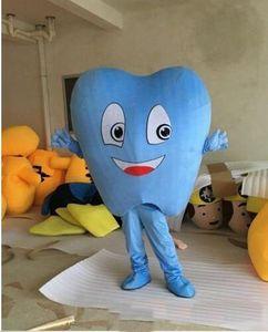 2019 vente d'usine Remise adulte Blue Tooth mascotte Costume Costume de vente chaude Costume Party bateau gratuit