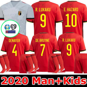 Человек + дети 2020 Бельгии Азар Лукаку, Мертенс футбол Джерси дома 20 21 Вермален, Де Брюйне сборной НЕНГГОЛАН подальше футбол рубашка