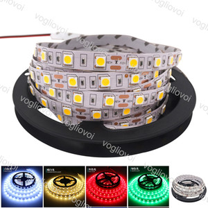 Led Strip Light 5M SMD5050 DC12V 300LED Round 2 wire RGB Warm White Dimmable Flexible Ribbon Waterproof Super Bright LED Lights EPACKET