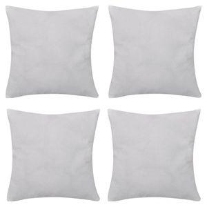 4 Otros Textile Textiles de cojín de algodón blanco cubiertas x cm 4 Otros Home Textile Home textiles de algodón blanco fundas de cojín 40 x 40 cm