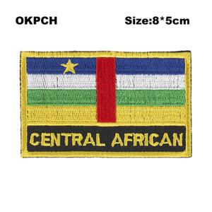 Ücretsiz Kargo 8 * 5 cm Orta Afrika Şekli Meksika Bayrağı Nakış Demir on Patch PT0217-R