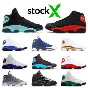 Nike Air Jordan Retro 13s 13 Chaussure de basketball Island Green Jumpman Top Quality femmes mens Court Purple Lucky Green Chicago Bred Hommes Baskets Baskets