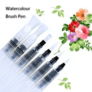 6Pcs Watercolour Set Art Waterbrush Pen Soft Brush Tips Refillable Painting Calligraphy Drawing Pen