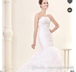 Trumpet Mermaid Floor-length Court Lace Wedding Dress