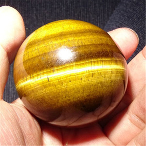 Yellow Tiger Eye Ball Natural Crystal Sphere Chakra Stone Healing For Yoga Meditation Massage Gifts Fengshui Decoration