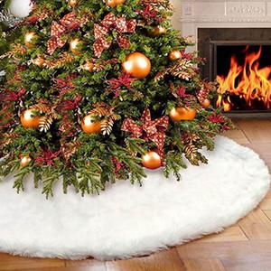 Noel Ağacı Etek Dekorasyon Beyaz Kadife Ağacı Etek Süs Merry Christmas Yıl Partisi Tatil Ev Dekorasyonu Çuval Xmas XD21204