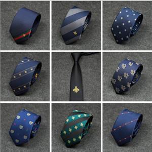 13 couleurs Mans Skinny Cravatte Pajaritas abeille modèle masculin étroit cravate cravate musicale 7cm pour les affaires de mariage de vacances cravate Musique