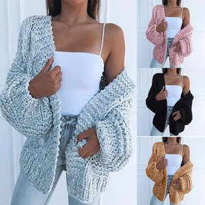 New Womens Sweater Fashion Solid Color Cardigan Sweaters Hot A S Keep Warm Women Sweater Jacket 4 Colors Size S-3XL