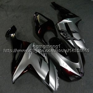 Gifts+Screws silver motorcycle cowl For Kawasaki ZX636 ZX-6R 07 08 ZX6R 2007-2008 zx-636 ABS motorcycle Fairing