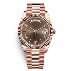 Presidente Día Date Oro Perpetual Moda Moda Reloj Mensaje Lady Girl Fiesta Acero Inoxidable Hombres Automáticos Relojes Montre Femme Reloj
