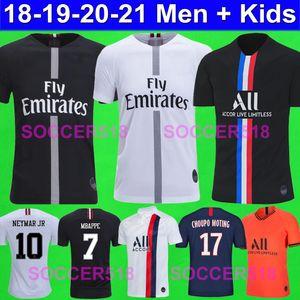 2018 2019 2020 PSG AIR JORDAN camisetas de fútbol MBAPPE CHOUPO MOTING Paris Saint Germain KIDS camisetas de fútbol NEYMAR JR RABIOT CAVANI  KIMPEMBE cuarto 4to niños ICARDI
