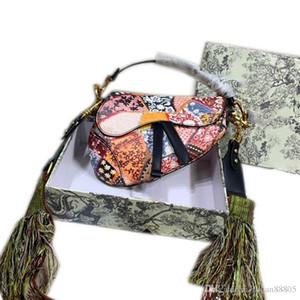 Moda tasarımcısı lüks çanta çantaDiorkutu 2020 yeni tarzı ile gelen kadınlar omuz deri marka moda eyer torbasını soğutmak