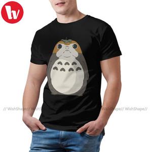 Porg Camiseta T-shirt Porgoro Mens impressionante camiseta Fashion Graphic algodão de manga curta Plus Size Camiseta