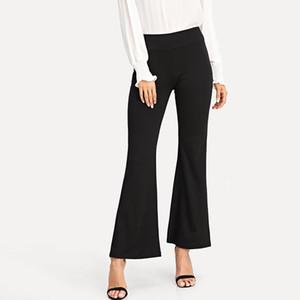 Calças de Yoga Bootcut femininas Calças compridas de cintura alta com cintura alta com bolsos