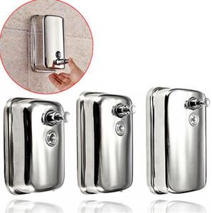 Flüssigseife Shampoo Dispenser Edelstahl Lotion Pump Action Wand befestigter Badezimmer Durable 500ml 800ml 1000ml LJJK2173