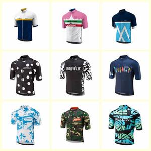Morvelo Takımı Bisiklet Kısa Kollu Jersey erkek Bisiklet Giyim Takım Elbise Hızlı Kuru Ön Fermuar Giyilebilir Nefes U52902