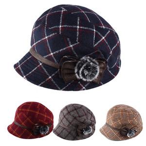 Осенью и зимой дамы хлопок шляпа моды фуражка восьмиугольную шляпа теплый берета дизайнер головных уборов женщин в