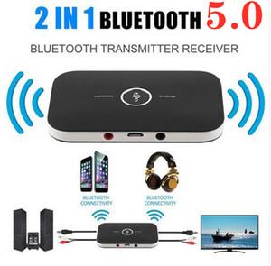 2Dans 1 Bluetooth 5.0 Emetteur récepteur sans fil A2DP pour adaptateur TV audio stéréo PC Phone Audio 3,5 mm Adapte Adaptateur sans fil