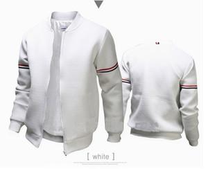 Autumm Mens Solid Color Mode Jacken Stehkragen Langarm-Geschäfts-Art-Homme, Kleidung, Lässige Kleidung