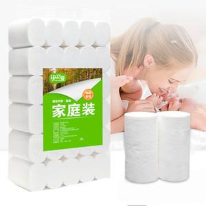 도매 저렴한 집 청소 수건 화장지 4 층 홈 목욕 화장실 롤 제지 1 차 목재 펄프 화장지 조직 롤 GYH
