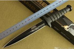 la supervivencia de Rambo de doble acción cuchillo recto del combate cuchillo de caza cuchillo rambo campaña al aire libre cuchillos caja de embalaje original Primer Master de sangre