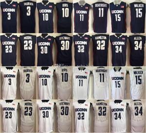 Uconn Huskies 15 Kemba Walker 11 Boatright 32 Hamilton 34 Ray Allen 10 Sue Bird 3 Taurasi 30 Stewart 23 Maya Moore College Basketball Jersey