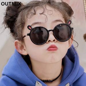 OUTMIX alta qualidade Moda 2020 Marca olarized crianças Óculos de sol Preto Criança Sun Óculos para Bebés Meninas Boy Sunglasses