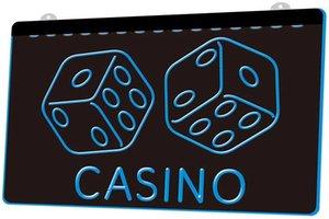 Ls1006 0 Casino Dice Lucky Game Bar Pub Rgb Multiple Color Remote Control 3d Engraving Led Neon Light Sign Shop Bar Pub Club