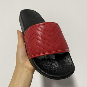 Sandalias del tigre del gato de la sandalia del deslizador de lujo de las mujeres diseñador plano de cuero de impresión Hardware Zapatos al aire libre hombres de la moda con la caja Psychedelic diapositivas