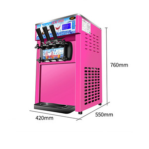 Mini 3 sabores Ice Cream 1200W Máquina de helados suaves 18L / H Yogurt Ice Cream R22 / R410a