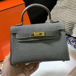 Borse Borse sacchetti di cuoio genuini Femme borse moda di vendita calda del messaggero borsa di coccodrillo alto trasporto veloce di colore Plain